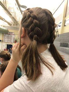 Cute Hairstyles For School, Diy Hairstyles, Hairstyle Ideas, Wedding Hairstyles, Cute Hairstyles For Short Hair, Updo Hairstyle, Ponytail Hairstyles, Fringe Hairstyles, Braided Ponytail
