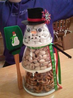 How cute is this?! Get your snowman scraper and 1, 2 and 3 cup prep bowls at www.pamperedchef.biz/kristabeakley