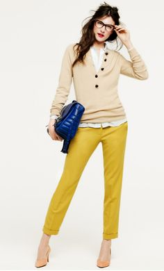 Great outfit around yellow pants!
