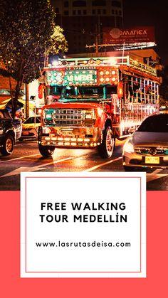 Descubre cómo funcionan estos tour que están en todo el mundo y utilízalo en Medellín, la ciudad de la eterna primavera de la que te vas a enamorar! Walking Tour, Tours, Free, Travel, The World, Travel Agency, South America, Places To Travel, Paths