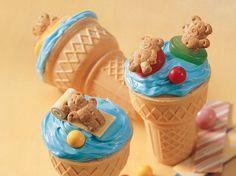 Teddy Grahams cupcakes