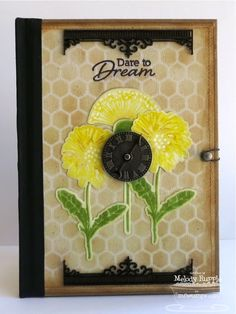 Dandelion Wishes; Dandelion Stems and Toppers Die-namics; Mini Chicken Wire Stencil - Melody Rupple