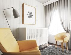 Frame Mockup Nursery Interior by positvtplus on DeviantArt Nursery Themes, Nursery Room, Minimalist Nursery, Animal Nursery, Mockup, Cribs, Toddler Bed, Frame, Interior