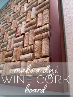 #diy wine cork board! Def. want this in my kitchen, so I guess I better drink up!
