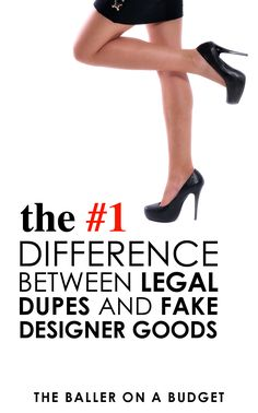 """What's the difference a """"dupe"""" and a fake designer item? The biggest determining factor is the legality of the item in regards to copyright infringement. Unlike a counterfeit item, dupes are completely legal to purchase. Click here to read more about the"""