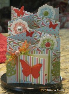 3/3/2012; France at Stamp & Scrap with Frenchie blog; another great cascading card