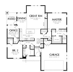 Floor Plans AFLFPW76489 - 1 Story Craftsman Home with 3 Bedrooms, 2 Bathrooms and 1,641 total Square Feet