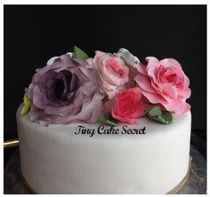 Flower cake, tarta flores. Vintage, romántica.