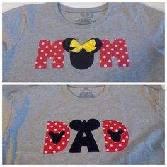 CUSTOM Mom and Dad Disney Inspired Minnie Mickey by LilLaineyBug