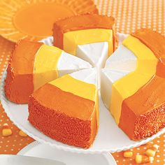 Love candy corns? Super-size them with this beautiful cake that tastes as good as it looks!