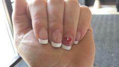 Wedding nails. Now detail matches my red sash ;)