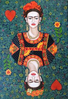 Buy Frida, queen of Hearts, Acrylic painting by Madalena Lobao-Tello on Artfinder. Discover thousands of other original paintings, prints, sculptures and photography from independent artists. Heart Painting, Acrylic Painting Canvas, Canvas Art, Acrylic Box, Frida Art, Frida Kahlo Artwork, Kahlo Paintings, Cultural Identity, Queen Of Hearts