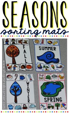 Sorting is an essential skill that students need to learn in their early education years. With this set of season sorting mats, students can sort 32 different objects by season (4 color mats, 8 different sorting pieces per mat).