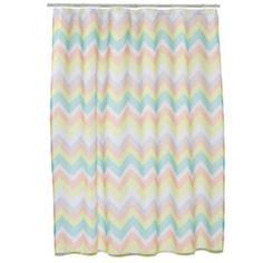 Simple by Design Chevron Fabric Shower Curtain