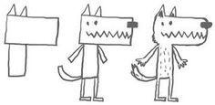 """Résultat de recherche d'images pour """"dessin loup facile"""""""