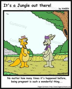 Cartoon - Never Tire of Pregnancy