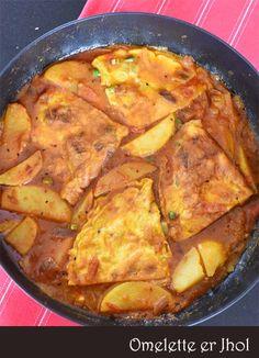 Bong Mom's CookBook: Omeltte er Jhol -- Omelette in a Curry