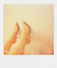 Sam Jackson    Katania and heels     Polaroid     10.8x8.9 cm     2011. CHARLIE SMITH london