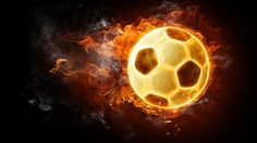Football on Fire – 1080p HD Wallpaper for Desktop