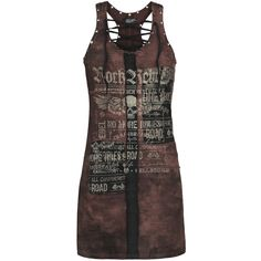 Rock Rebel by EMP  Short dress  »Eyelet Lace Up Dress« | Buy now at EMP | More Rock wear  Short dresses  available online ✓ Unbeatable prices!