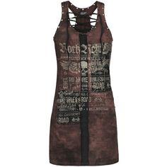 Eyelet Lace Up Dress - Kurzes Kleid von Rock Rebel by EMP