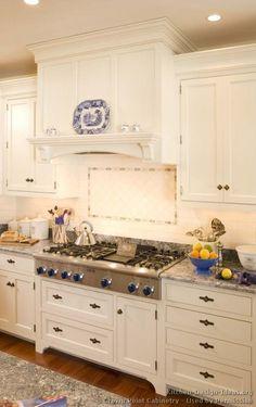 Attractive Inset Cabinet Doors, Storage To The Ceiling... Victorian Kitchen Cabinets  #06 (Crown Point.com, Kitchen Design Ideas.org) | New Kitchen Ideas |  Pinterest ...
