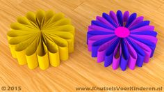 Bloem van papier - Knutsels Voor Kinderen - Leuke Ideeën om te Knutselen met Duidelijke Uitleg