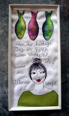 Stoffcollage /Nadelkunst von mARTina haussmann auf DaWanda.com