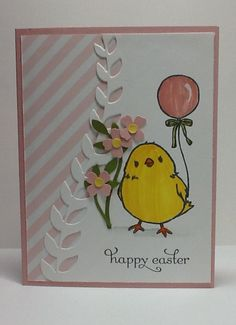 handmade card: Easter Chick by razldazl ... luv the little flowers ... Stampin' Up!