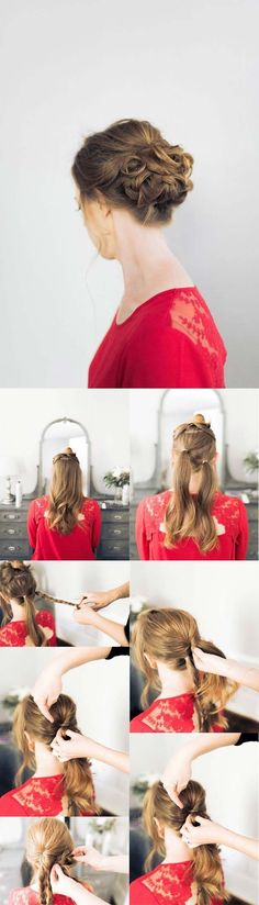 32 Ideas Holiday Hairstyles For Medium Hair Simple Updo Tutorial Hot Haircuts, Trendy Haircuts, Haircuts For Long Hair, Hairstyles For School, Hairstyles With Bangs, Easy Hairstyles, Shoulder Length Hairdos, Braids For Medium Length Hair, Medium Hair Cuts