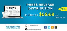 With our Different Packages according to your needs ContentProz distribute news to the most effective press release sites.