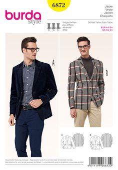 Revamp your wardrobe with these stylish men's basics! #Burda #sewing #pattern B6872