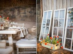 Chanel & Don's Coral Rustic Wedding