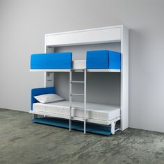 The Kali Duo Board is the newest addition to the collection of space saving bunk bed systems, featuring a desk.