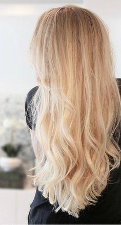 Piękne długie blond włosy