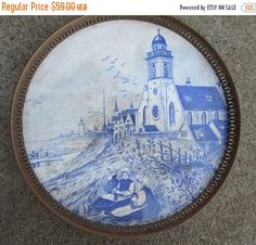 ON SALE Antique Sternauware New York Blue and by suburbantreasure