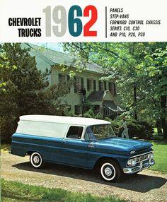 1962 Chevrolet Trucks. Panels & Step-Vans.