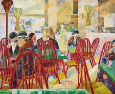 The Lacquer Room by Grace Cossington Smith 1936 ( Inspired by the art deco designs and vivid colours of the David Jones department store cafe in Sydney. Art Gallery, Art Society, Australian Artists, Australian Art, Royal Art, Painting, Australian Painting, Art Historian, Art And Architecture