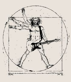 Jammin' on the guitar, da Vinci Style