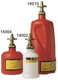 """Justrite Dispenser Bottle - 4"""" Dia.X10-1/2""""H - 1- Quart Capacity - Red"""