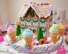 Candyland Christmas Gingerbread House