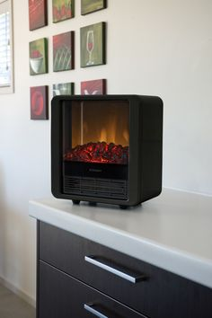 Dimplex Mini Cube Red Freestanding Electric Stove - DMCS13R ...