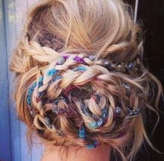 This is fun! #ribbon #braids #messy