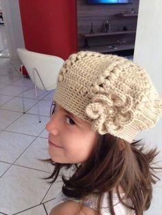 Boina Infantil c/ Flor - YouTube