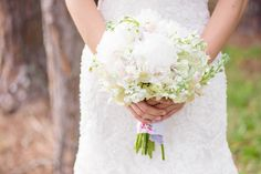 White Peony, Hydrangea and Snapdragon Bouquet