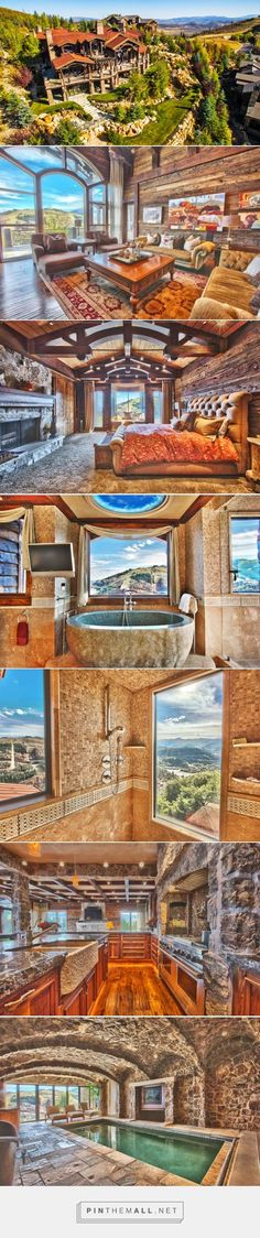 WOW!! Spectacular views, gorgeous interiors, this mountain lodge in Park City, Utah has it all. - created via https://pinthemall.net