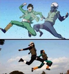 <3 Kakashi & Gai - The Race: Gai versus Kakashi & Kakashi Cosplay, Gai Cosplay