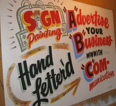 My attention was recently drawn to the work of Dad's Paper Signs from New Hampshire, USA. Poster lettering has, I imagine, suffered an even worse decline than signwriting since the advent of cheap ...