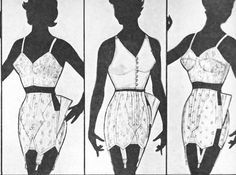 the 1950s-1954 girdle and bra
