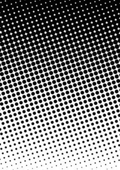 Obsessed with halftone circle gradation patterns A halftone is a reproduction of a photograph or other continuous tone picture, in which only various-sized dots of black ink or ink of a single shade is used to connote color differences. Graphic Patterns, White Patterns, Textures Patterns, Print Patterns, Graphic Design, Pattern Texture, Texture Design, Surface Pattern, Fond Pop Art
